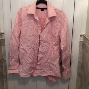 Ike Behar button down pink 15 1/2 -35